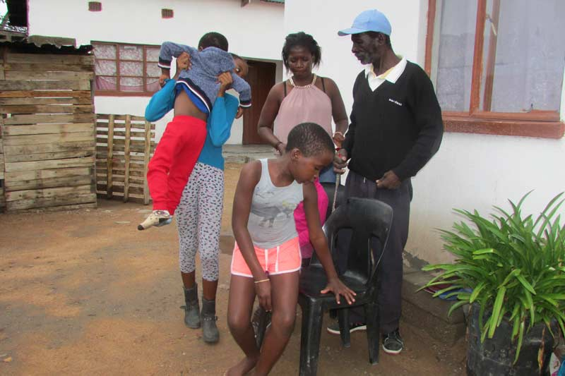 Family Being Helped by the SOS Family Strengthening Program