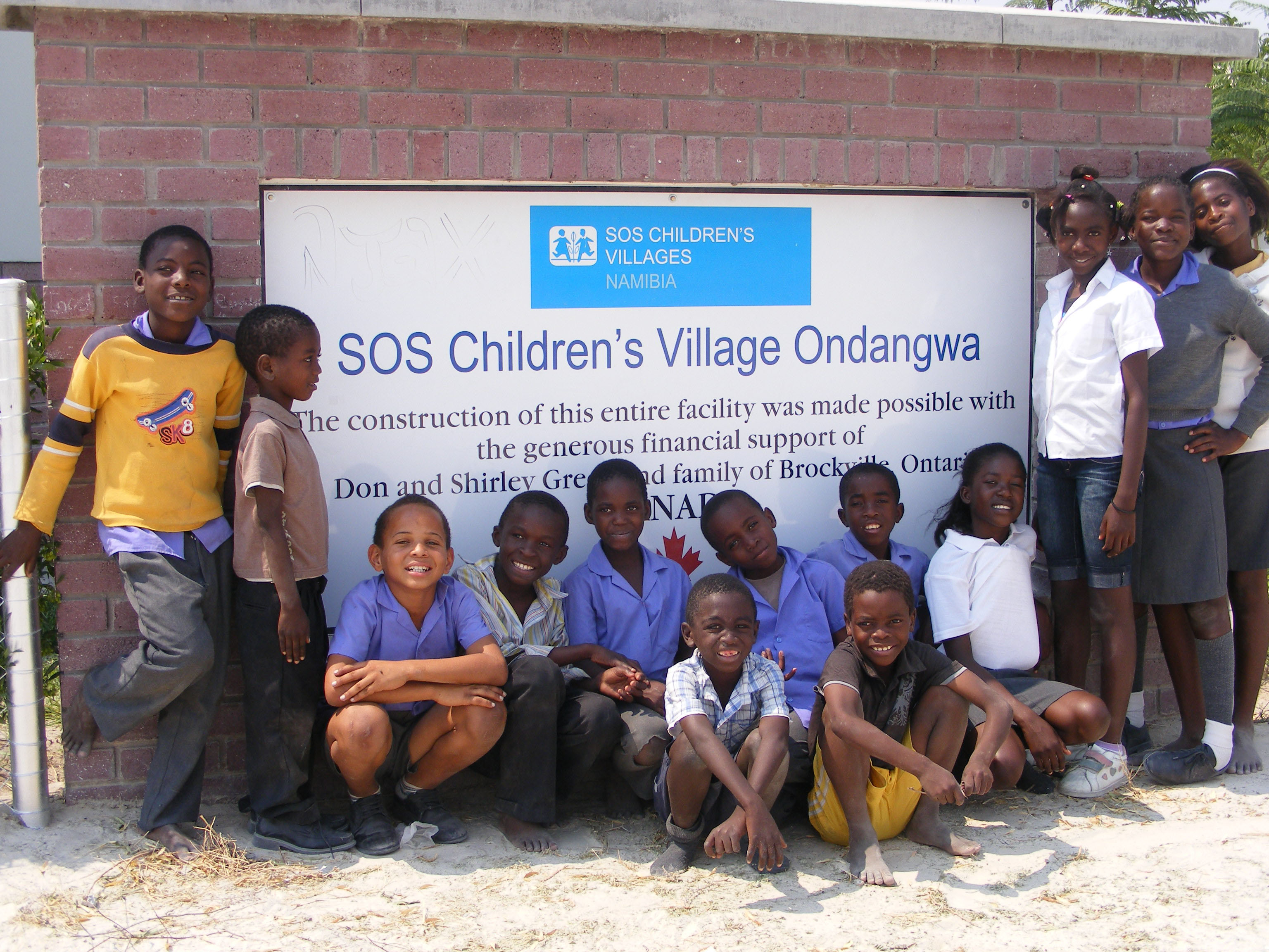 The SOS Children's Village in Onandgwa, Namibia, funded by Canadians