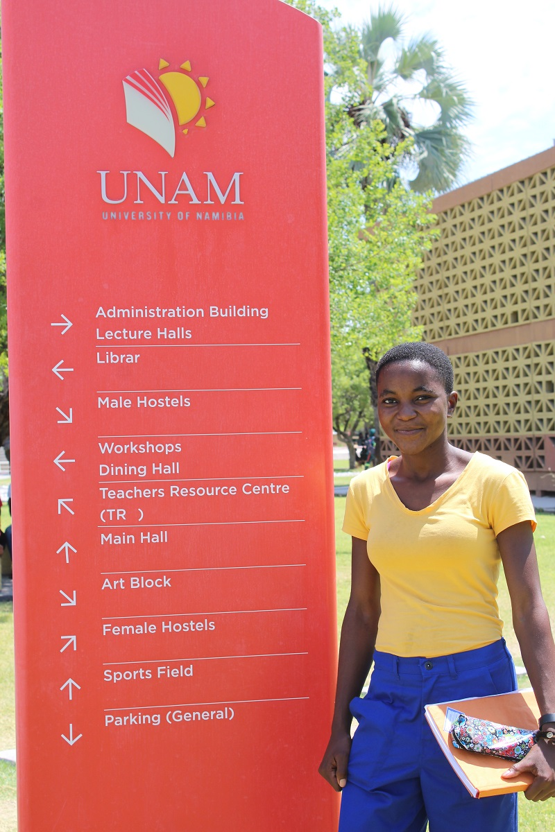 Akpena at the University of Namibia