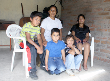 Emilio with his SOS family