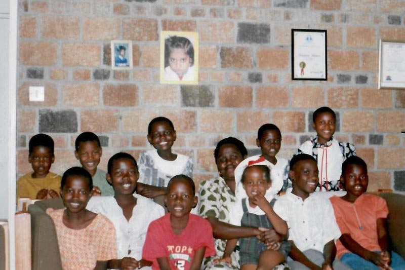 British Ncube with his SOS Family