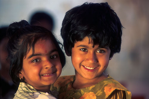Brother and sister in Trichur, India