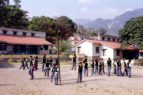 Children playing in Dehradun, India