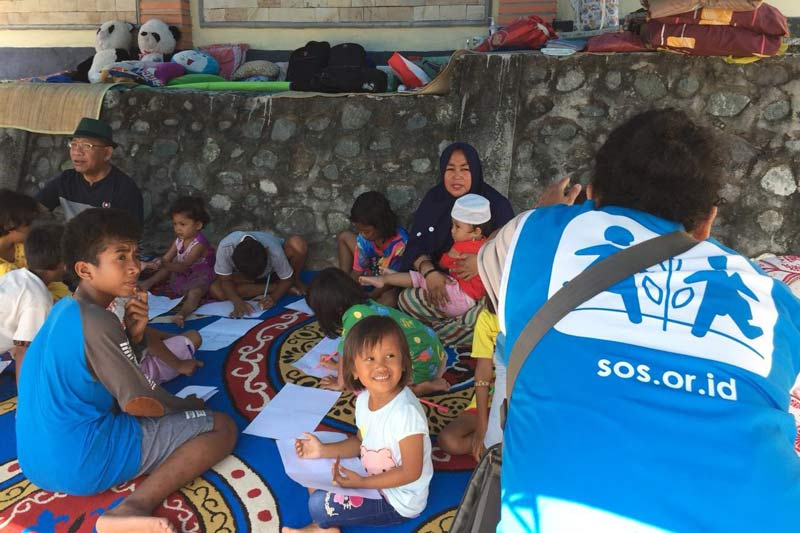 SOS Child Friendly Space in Indonesia