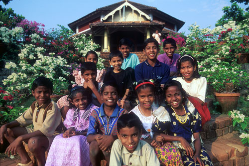 Boys and Girls in SOS Children's Villages Alwaye-Cochin, India