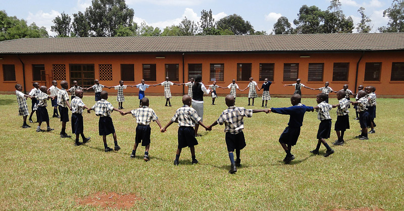 Children playing at the SOS School in Gulu, Uganda