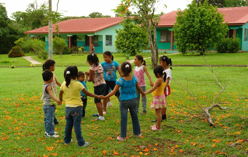 Sponsored children playing an SOS Village in Panama