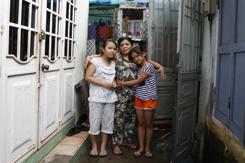 Two sisters and their aunt in Vietnam