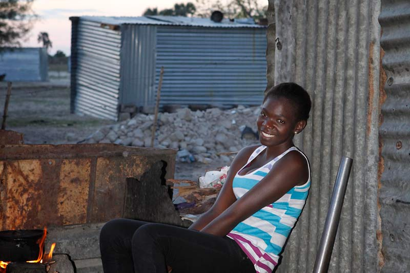 Young woman part of the Family Strengthening Program in Ondangwa, Namibia.