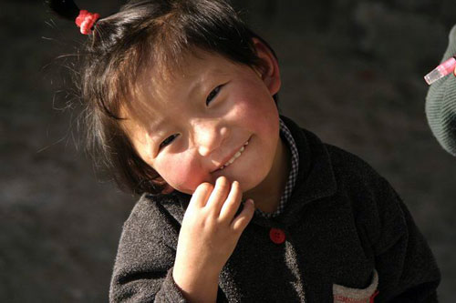 Tibeten girl in Dharamsala, India