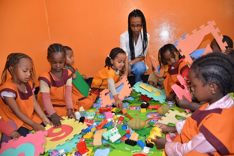 Students in Keranyo Daycare Center