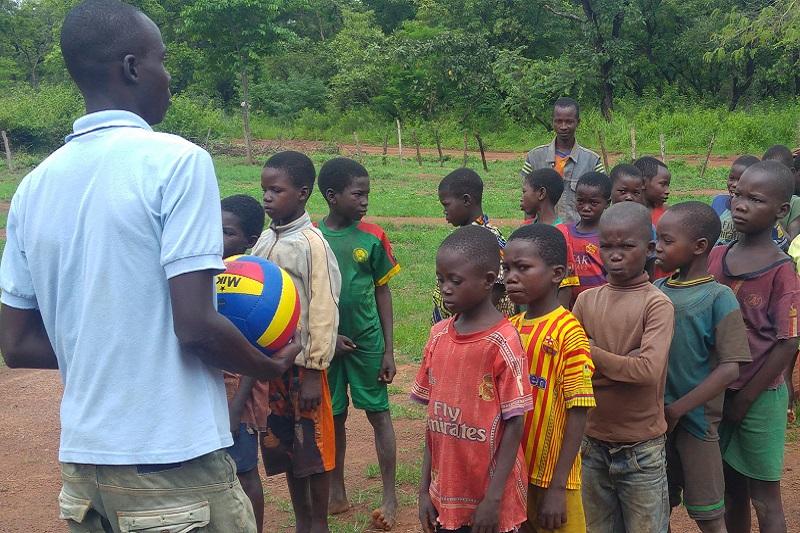 Children awaiting emergency help