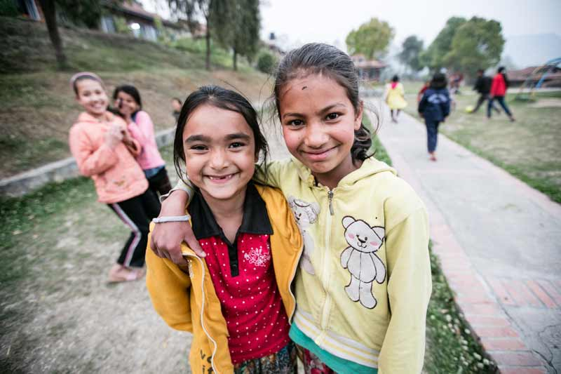 Sponsored girls in Nepal - Sponsor a child in Nepal today