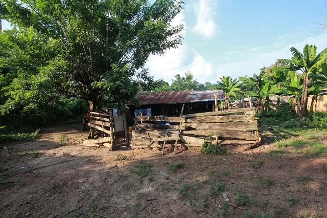 Nyaaba's makeshift home in Ghana.