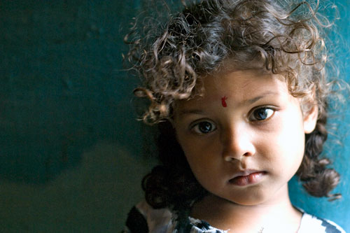 Portrait of a girl in Nagapattinam, India