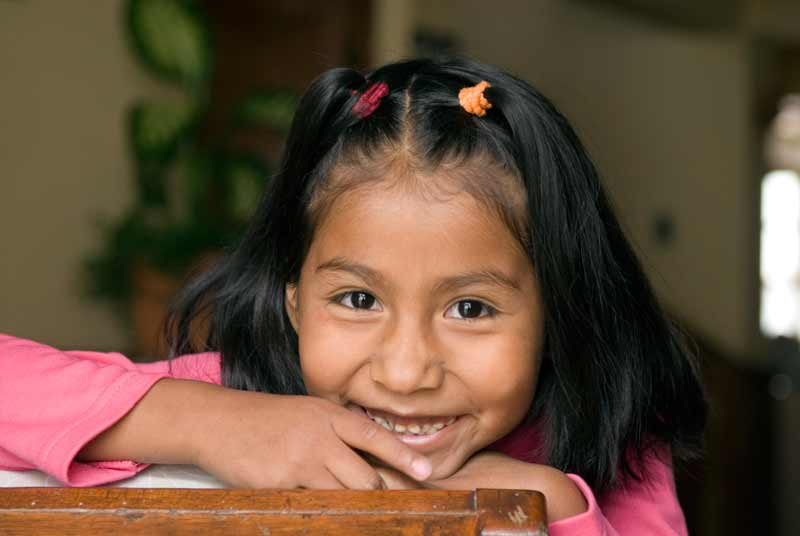 Sponsored girl smiling in Bolivia