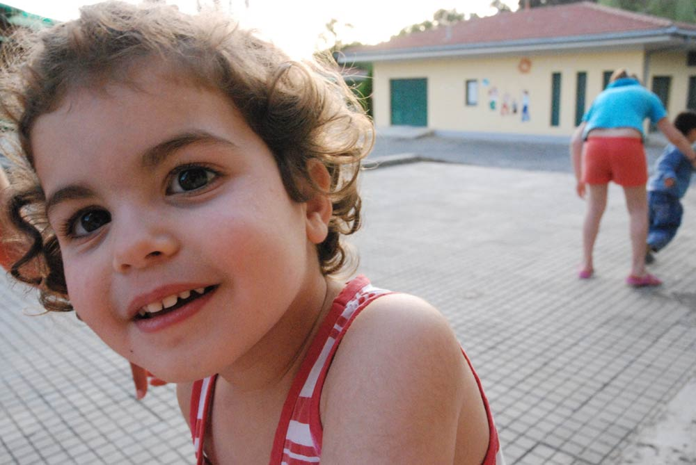 Sponsored girl smiling in SOS Village in Albania