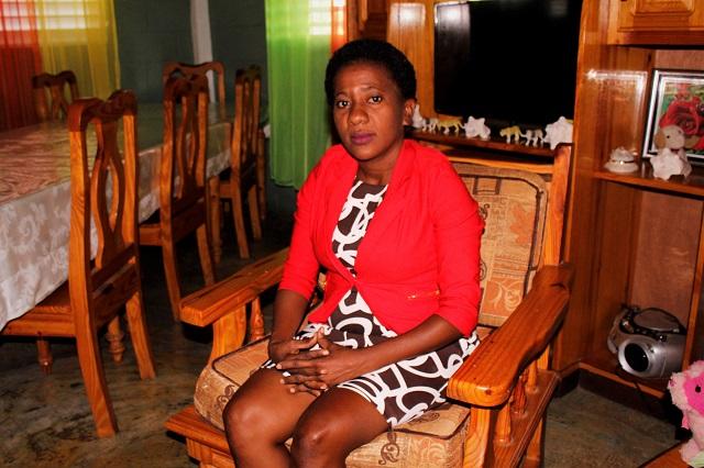 SOS mother Bauzalaine in her home.