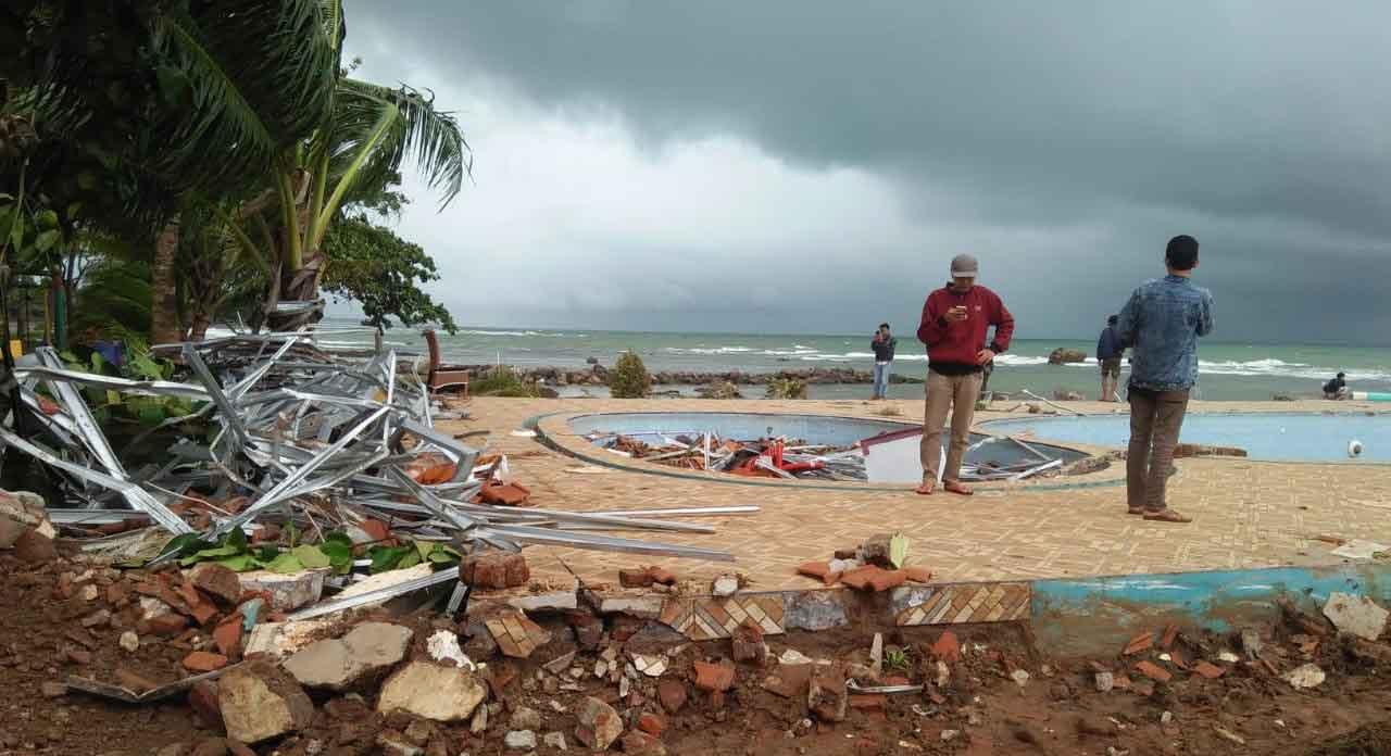 Tsunami damage in Indonesia