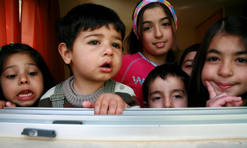 Young children in Lebanon.
