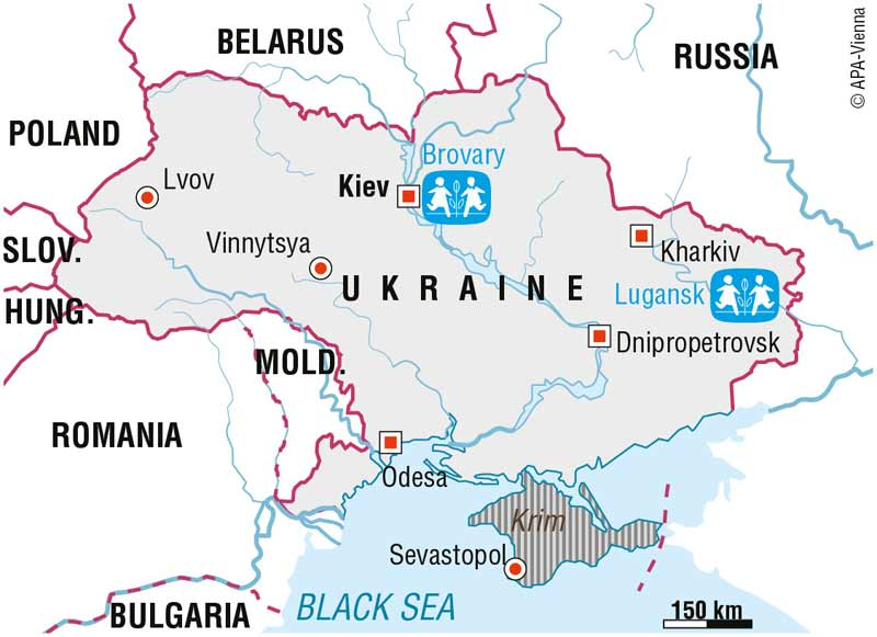 Map of SOS in Ukraine