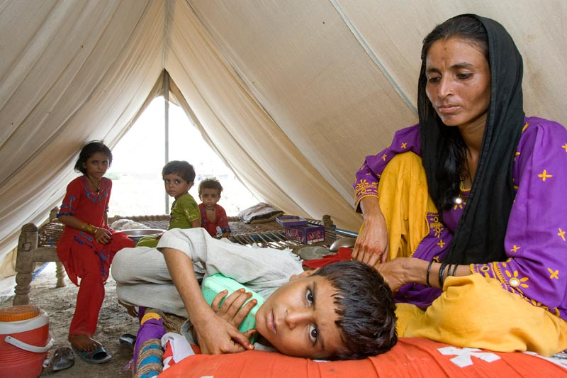 Family in Pakistan receiving support from SOS