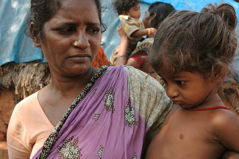 Mother and daughter impacted by poverty in India