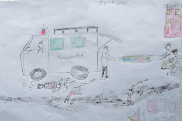 Drawing by a child in Nepal