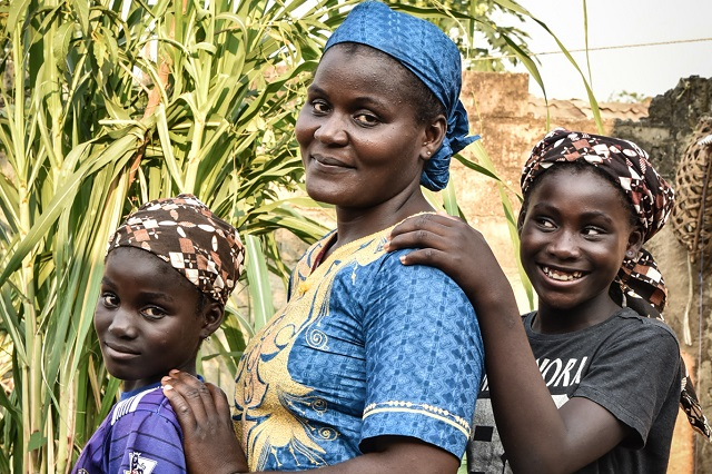 Assanatou and her daughters.