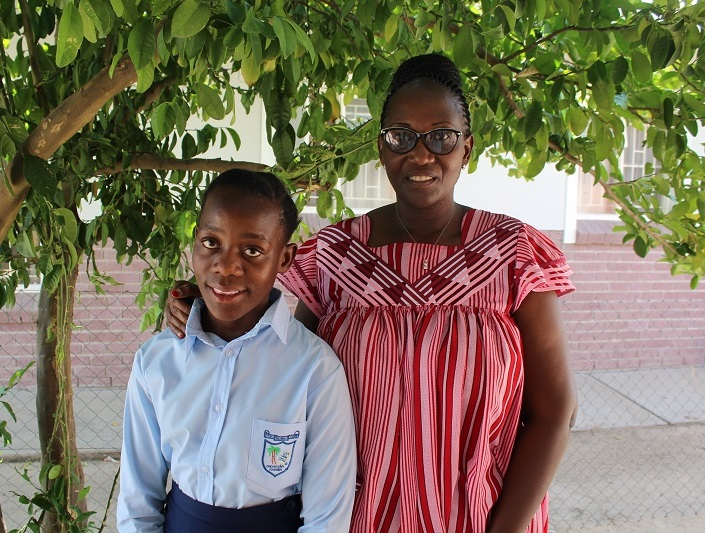 Nothando and her SOS Mother Emilia