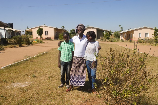 Rabia and Senito with their SOS mother.