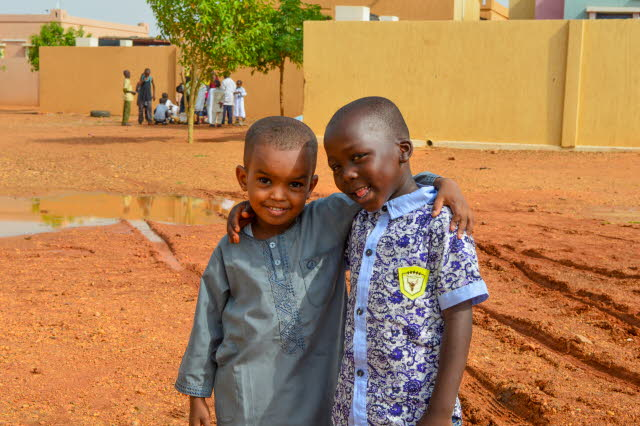 Two SOS boys posing in Sudan.