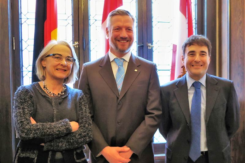 Austrian and German ambassadors with SOS Canada President and CEO