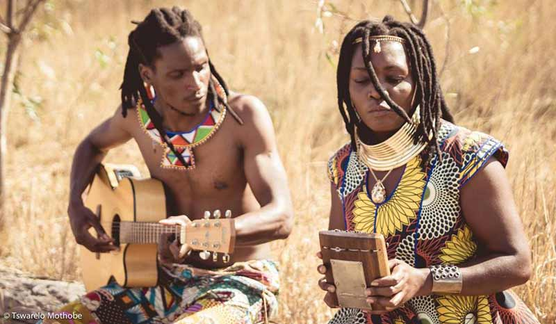 British Ncube and his wife. The two are the musical duo of Stango and Nongoma.