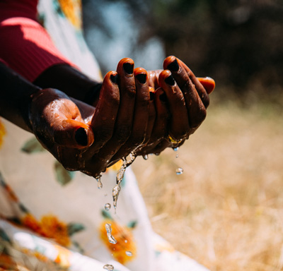 Water in the hands