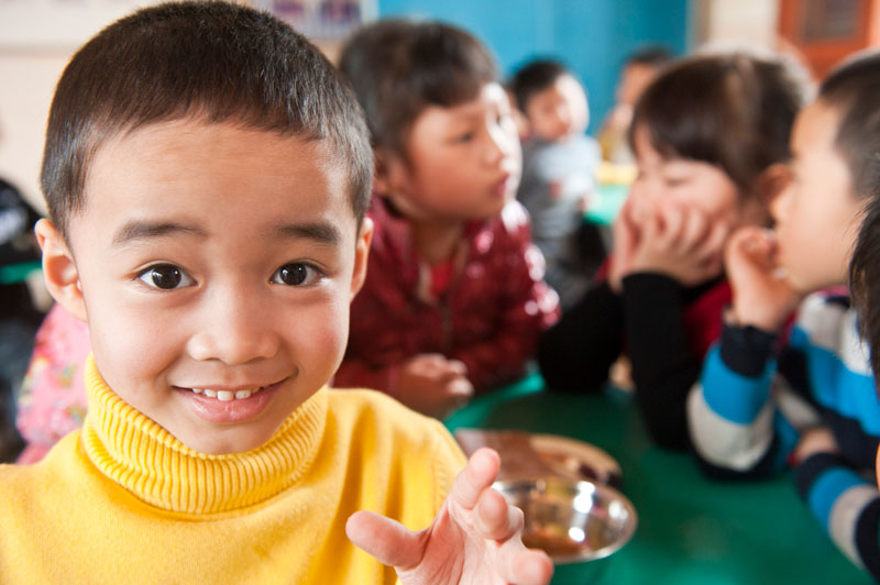 Boy smiling in Vietnam