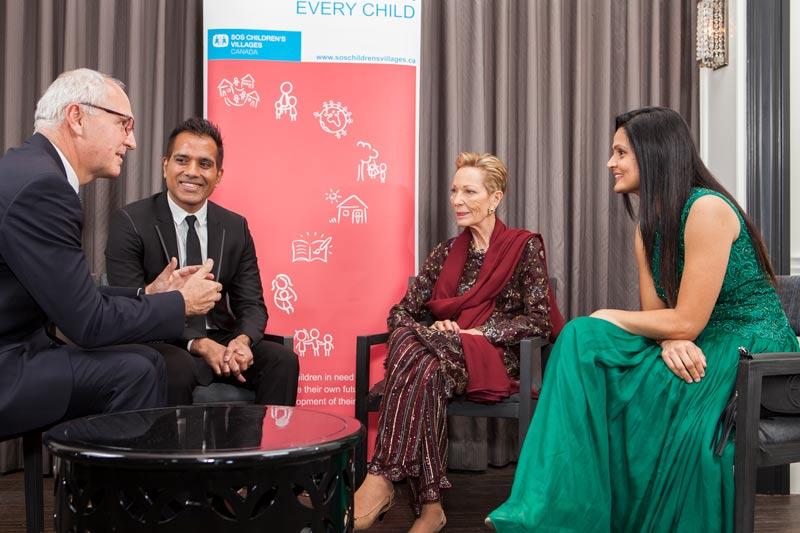 Princess Salimah Aga Khan with guests in Toronto