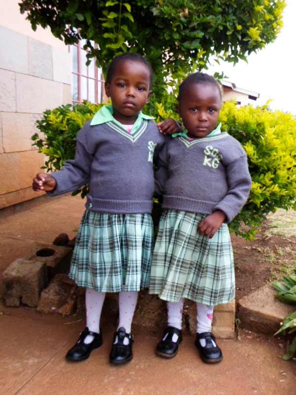 Four-year-old twins Rhoda and Hilda