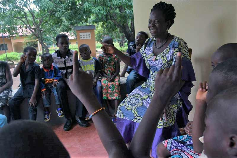 Caring for children in Togo