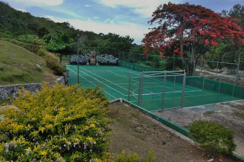 Refurbished multi-purpose court at SOS Children's Village Barrett Town in Jamaica