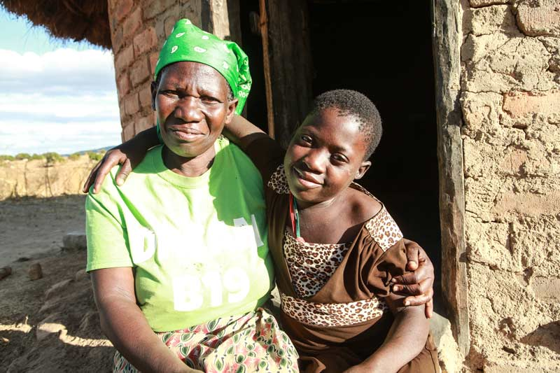 Young girl with her grandmother