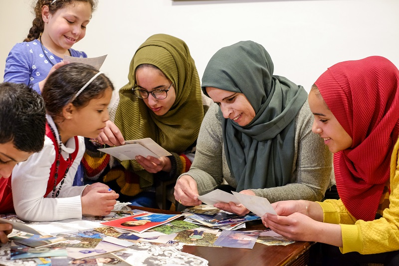SOS sisters with family in Palestine