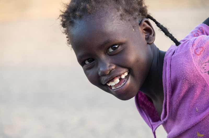Portrait of a child in Swaziland - Sponsor a child today!