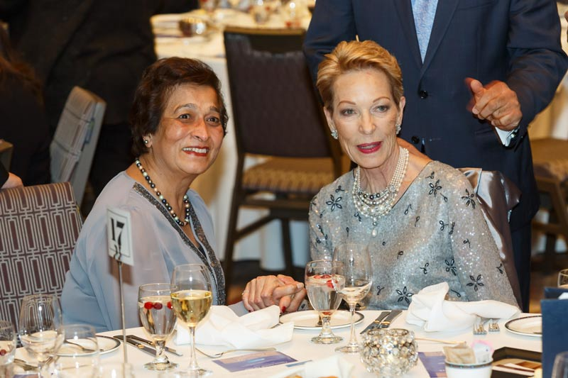 Princess Salimah Aga Khan with guest at Calgary event
