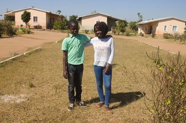 Rabia and her younger brother Senito.