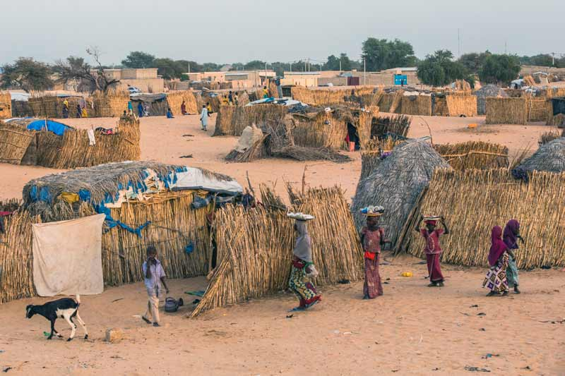 Refugee camp in Diffa, Niger