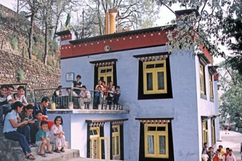 Children in front of SOS Home in Mussoorie, India