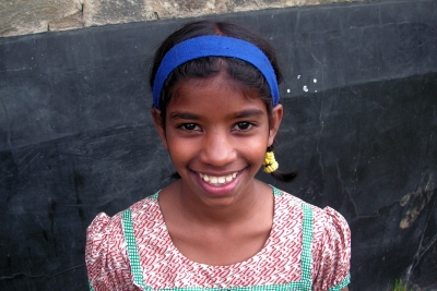 Sponsored girl smiling in the SOS Village in Nuwara-Eliya, Sri Lanka