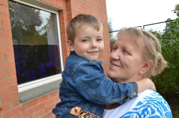 SOS mother and sponsored boy in Russia