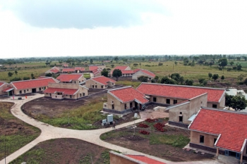 Aerial view of SOS Village in Khajuri Kalan, India